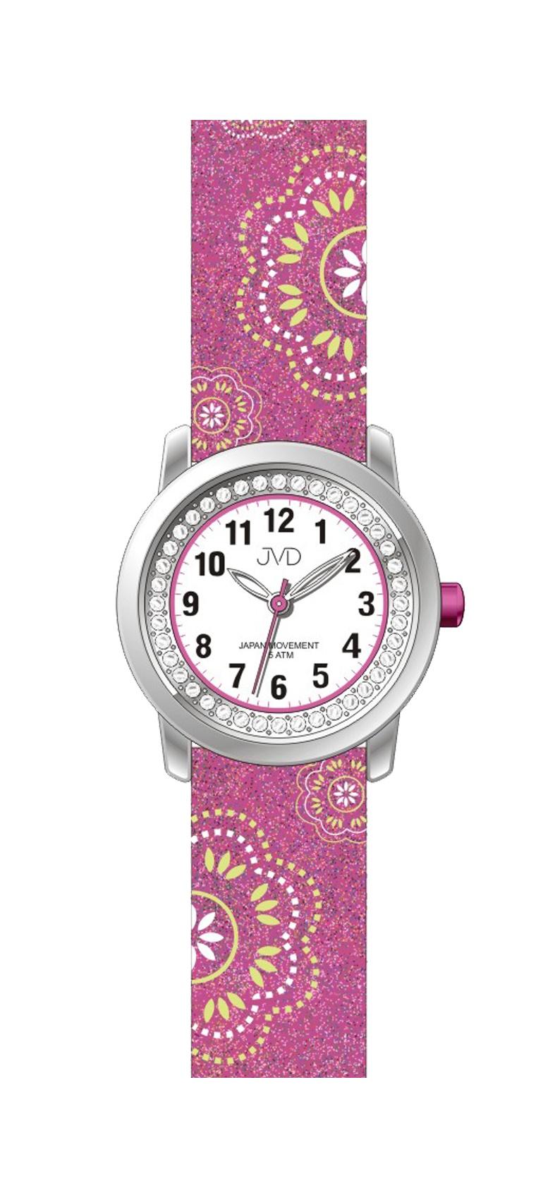 Dětské dívčí náramkové hodinky JVD J7171.2 (růžové)