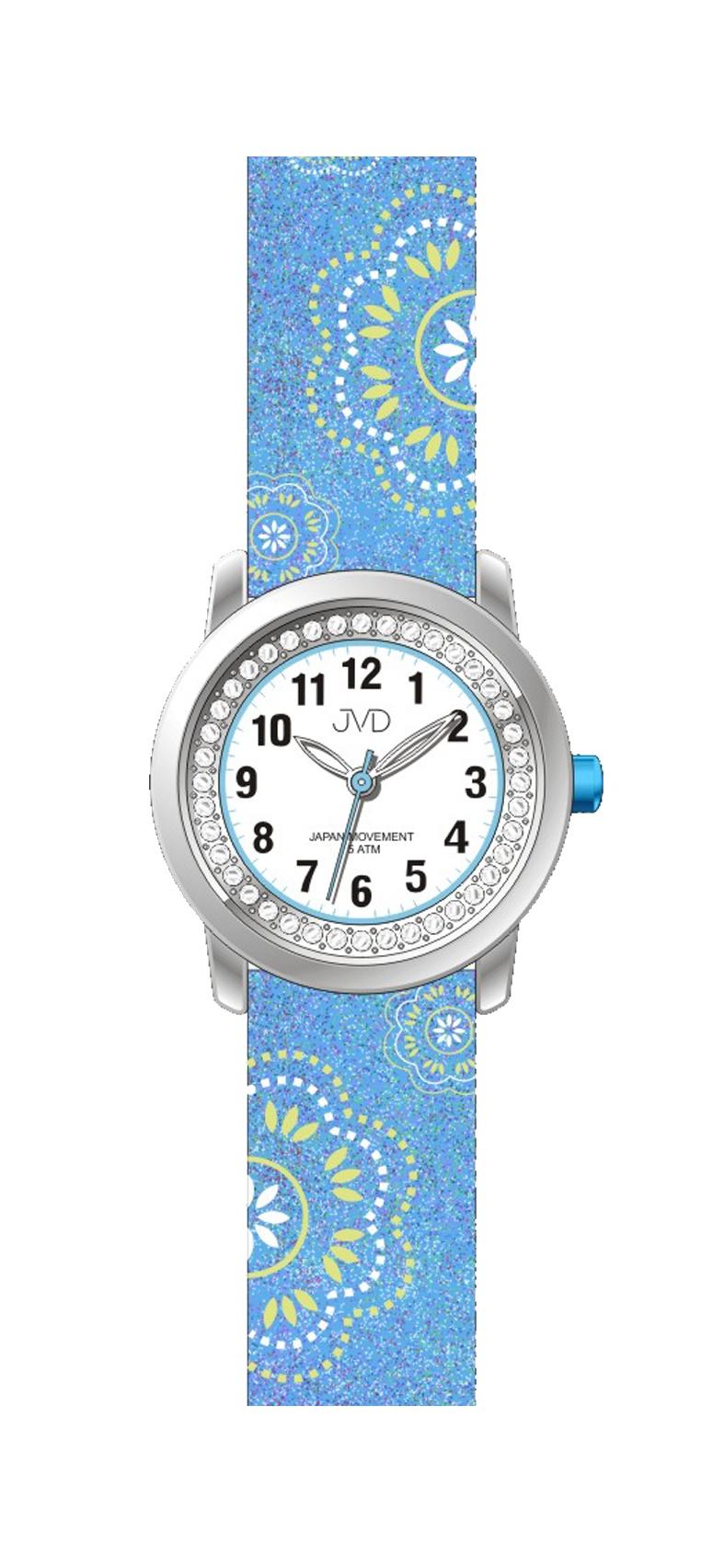 Dětské dívčí náramkové hodinky JVD J7171.3 (modré)
