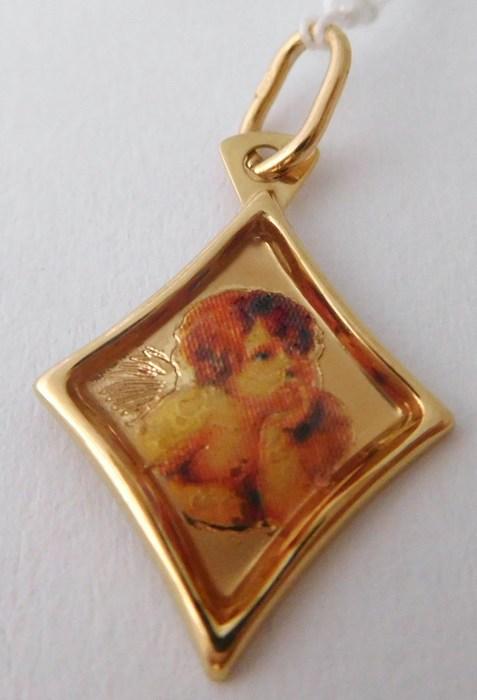 Zlatý přívěsek - zlatý andělíček s gravírováním 585/0,59gr H782 ( )
