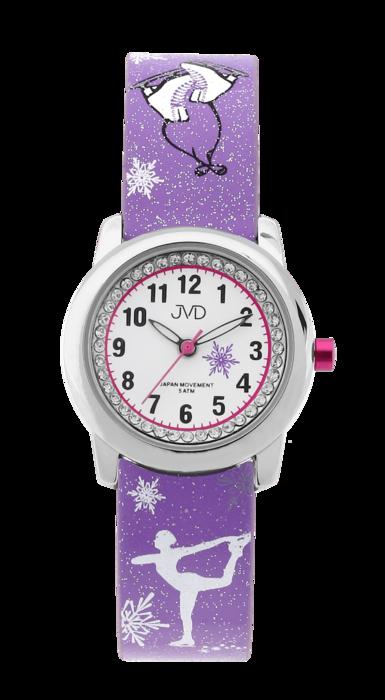 Dětské náramkové dívčí hodinky JVD J7170.1 - krasobruslařka
