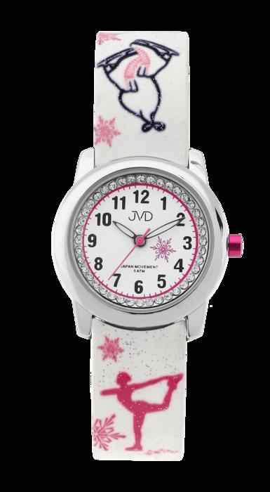 Dětské náramkové dívčí hodinky JVD J7170.2 - krasobruslařka