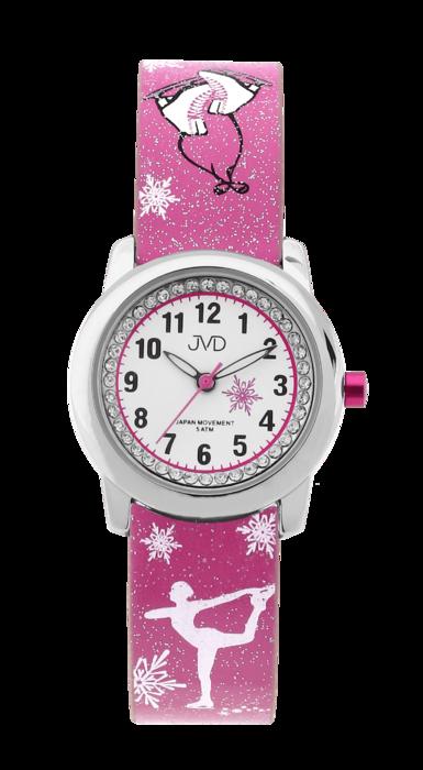 Dětské náramkové dívčí hodinky JVD J7170.3 - krasobruslařka