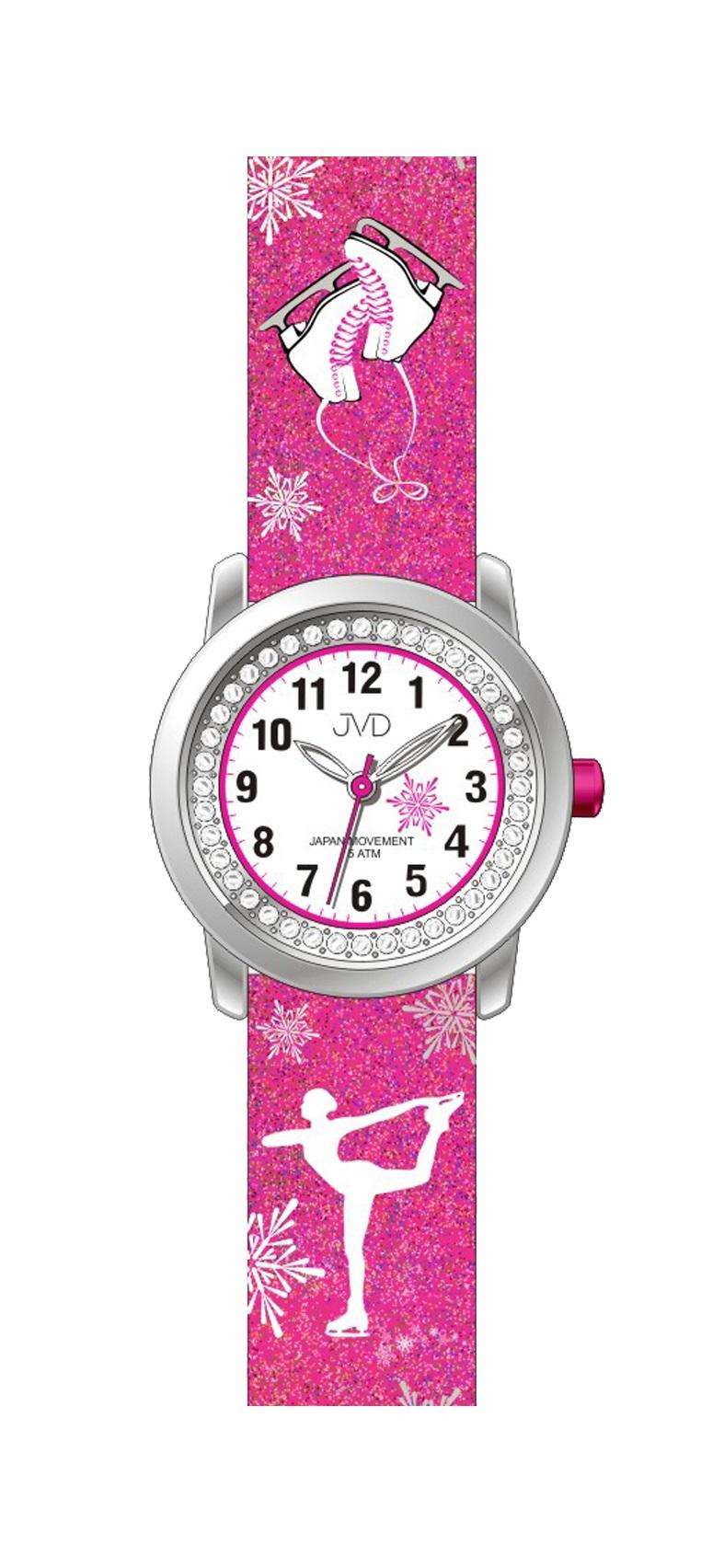 Dětské náramkové dívčí hodinky JVD J7170.3 - krasobruslařka (POŠTOVNÉ ZDARMA!!!)