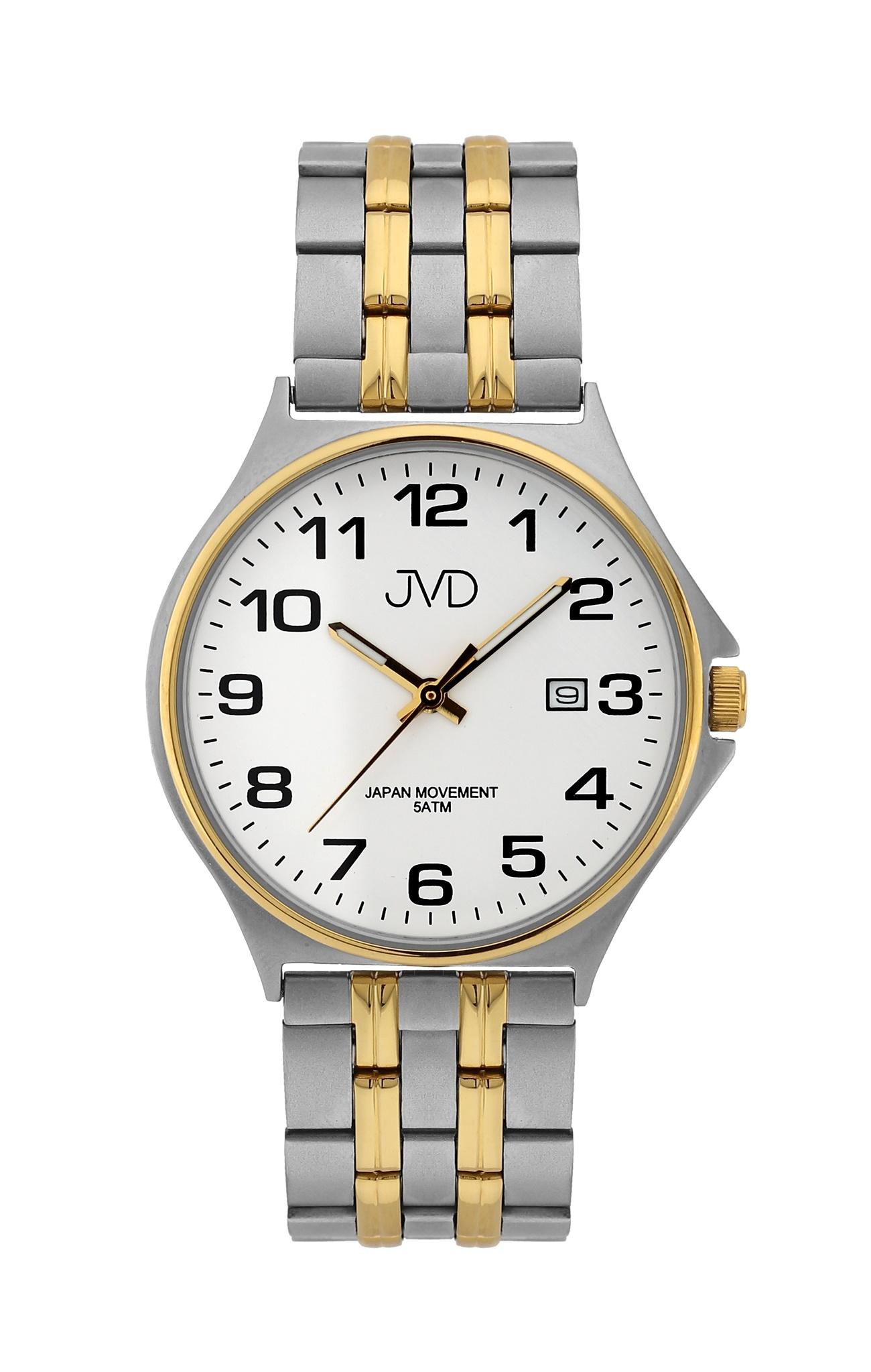 Pánské ocelové čitelné náramkové hodinky JVD J1114.1  1c6ca859748