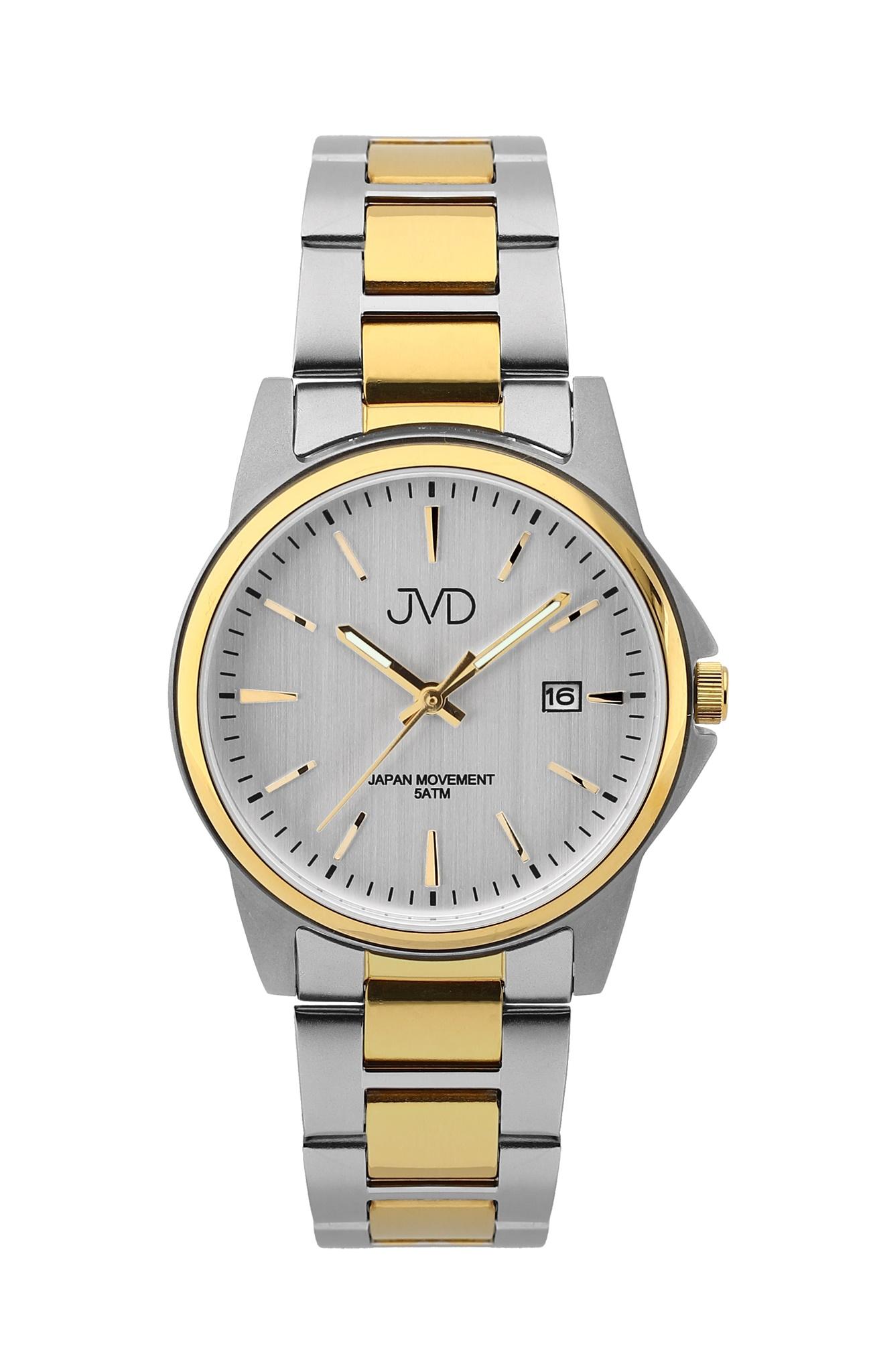 Pánské ocelové čitelné náramkové hodinky JVD J1116.3 - 5ATM ec939d93eff