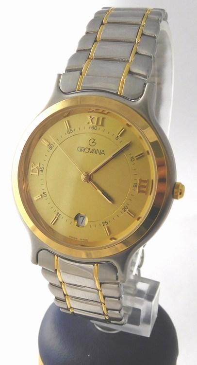 Pánské luxusní ocelové švýcarské hodinky Grovana 1705.1541 (bicolor ... a5cb293a60
