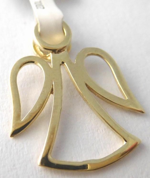 Zlatý andělíček ze žlutého zlata - přívěsek 585/0,65gr 6820030 (6820030)
