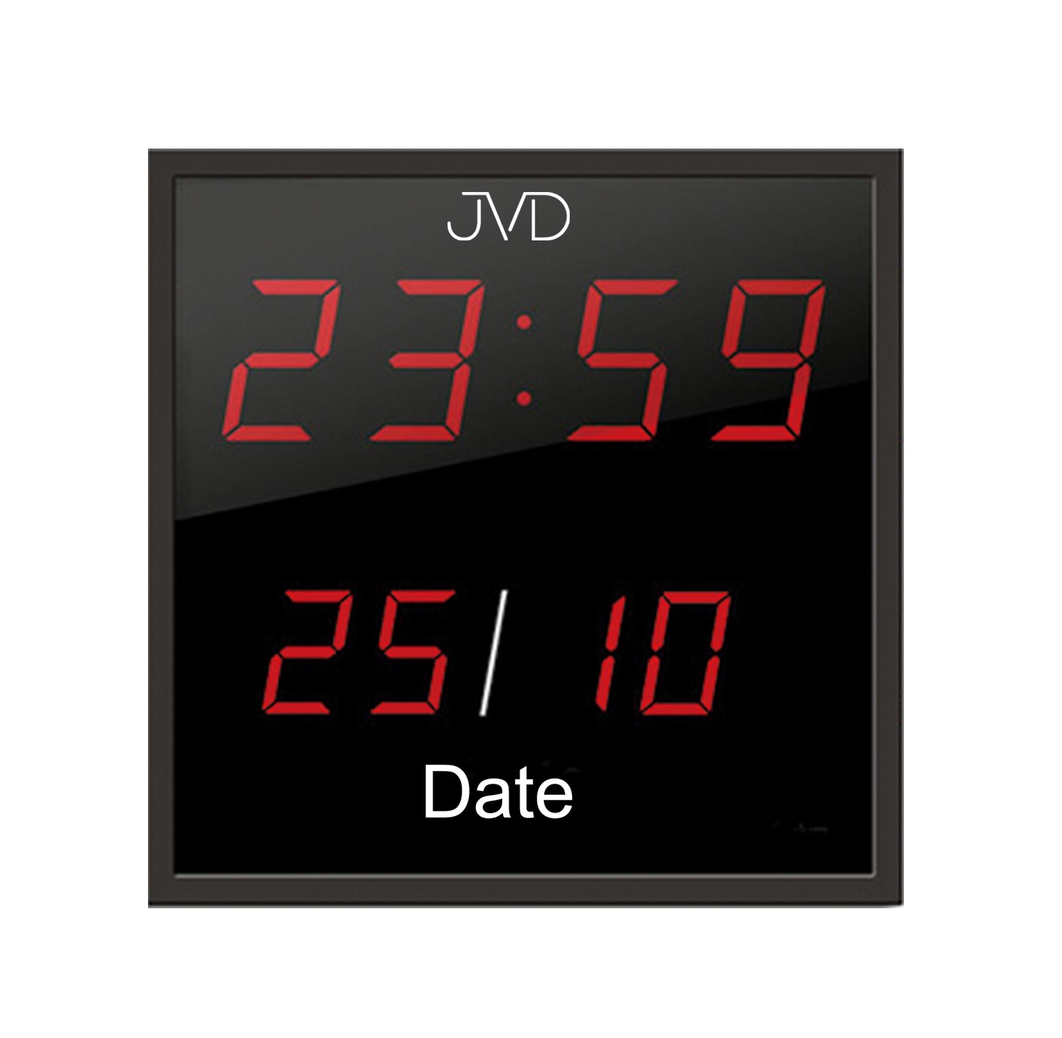 Velké svítící digitalní nástěnné hodiny JVD DH41 s červenými číslicemi (POŠTOVNÉ ZDARMA!!)