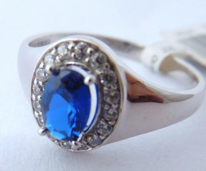 Prsten z bílého zlata se safírem 585/2,30 g vel.53, 1850806 (1850806 - POŠTOVNÉ ZDARMA)