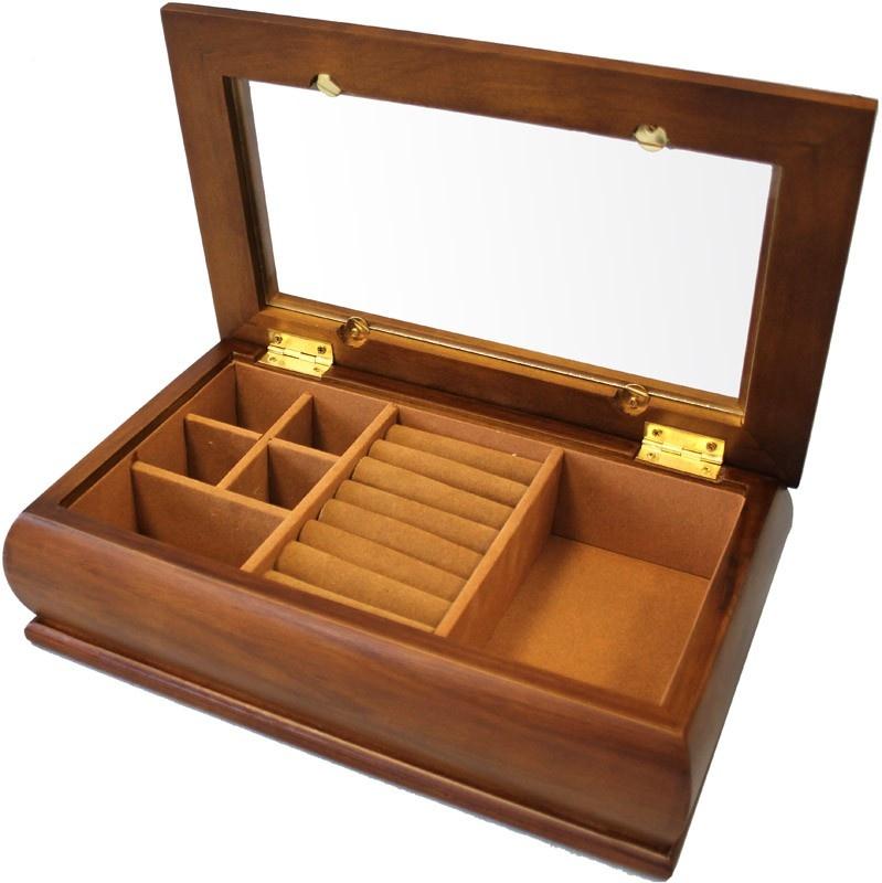 Jednopatrová dřevěná šperkovnice 9381/67994