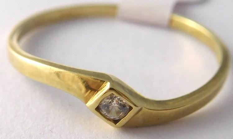 Zásnubní dámský zlatý prsten ze žlutého zlata 585/0,82gr vel. 52 Z169 (POŠTOVNÉ ZDARMA!!!)