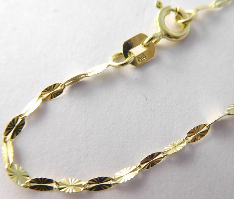 Zlatý gravírovaný řetízek ze žlutého zlata 585/1,02gr 45cm 2840207