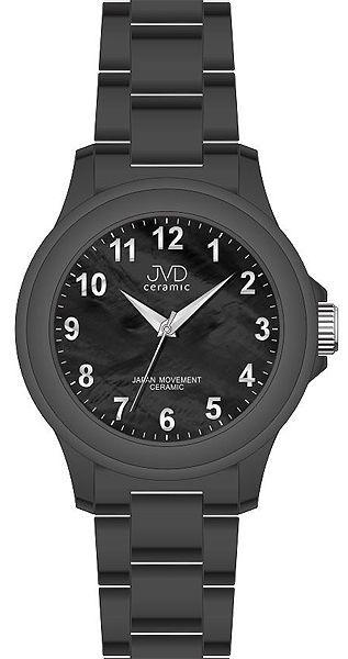 Luxusní keramické dámské náramkové hodinky JVD ceramic J6009.2 (POŠTOVNÉ ZDARMA!! - černá keramika)