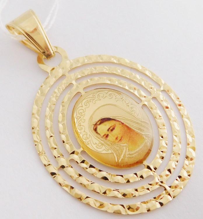 Velká zlatá madonka - zlatá madona přívěsek 585/1,48gr H823
