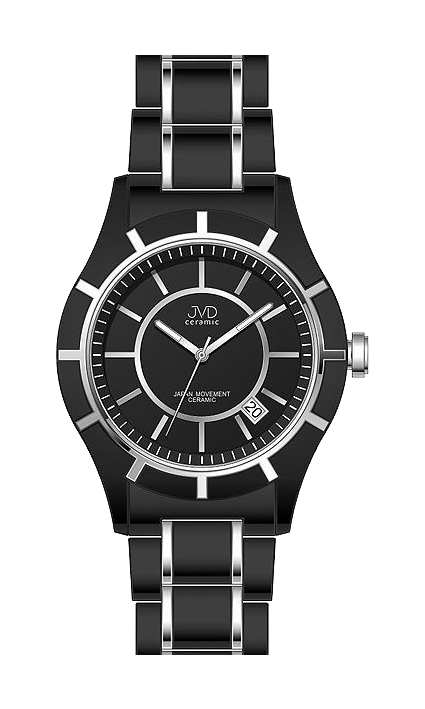 Dámské černé keramické lehké hodinky JVD ceramic J3005.2 (POŠTOVNÉ ZDARMA!!)