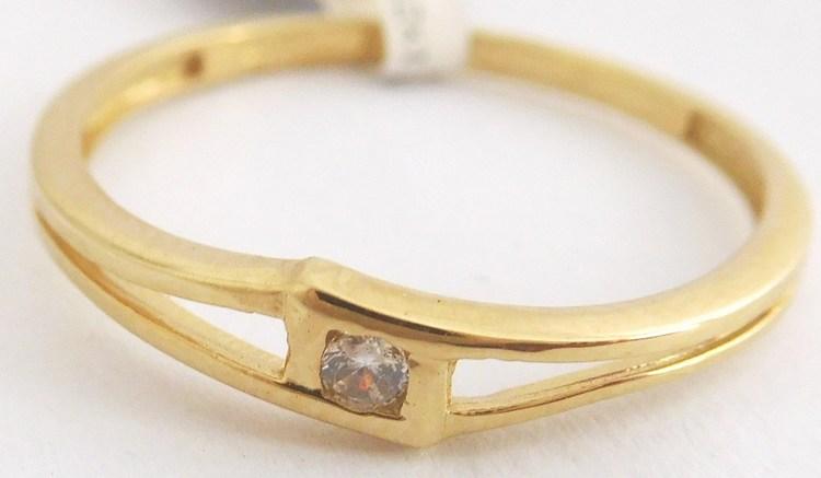Dámský zásnubní zlatý prsten se zirkonem vel.58 585/1,17gr 4515044 (4515044 - POŠTOVNÉ ZDARMA)
