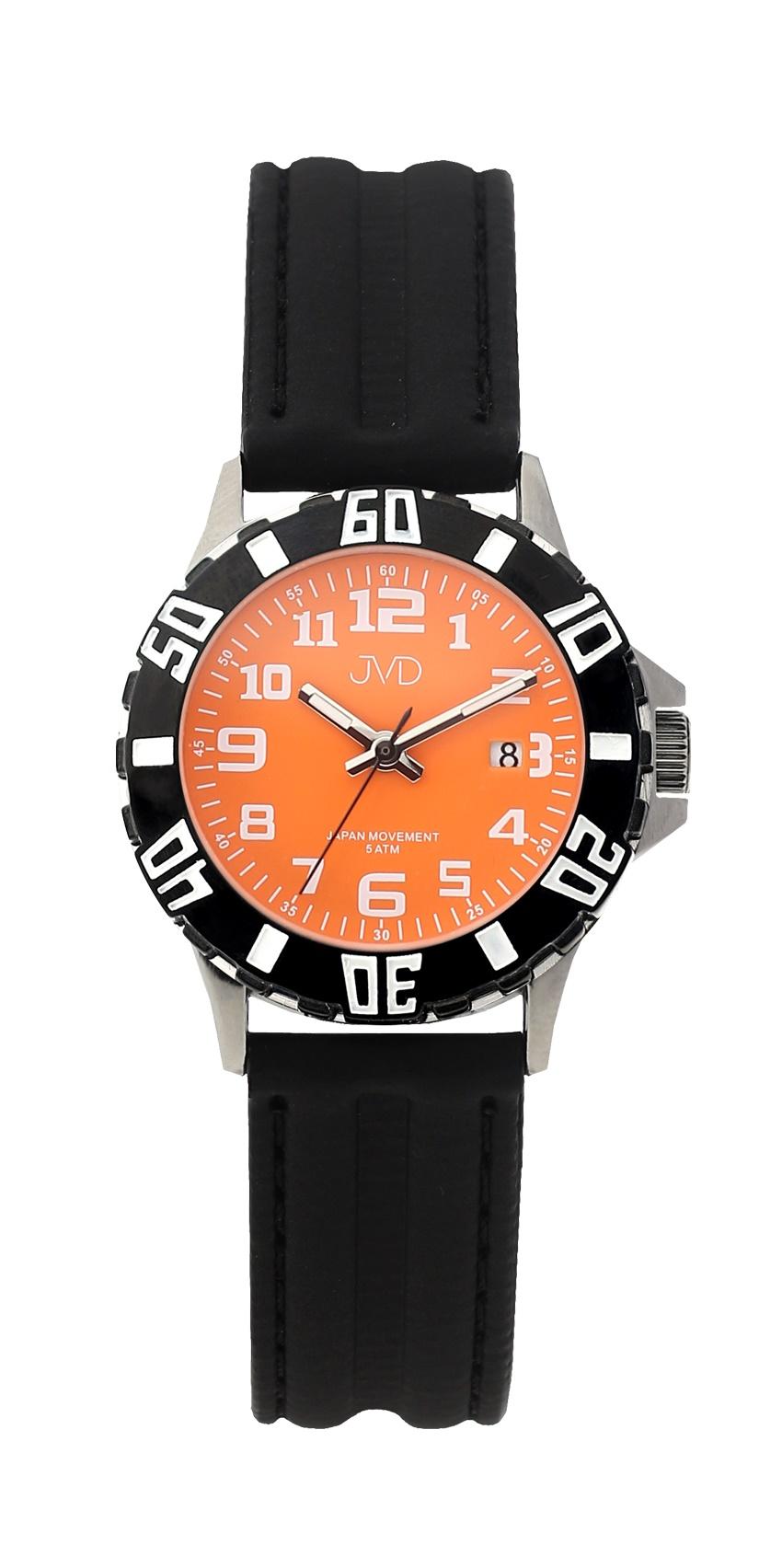 3ef63c25b62 Černé chlapecké vodoodolné dětské náramkové hodinky JVD J7176.3