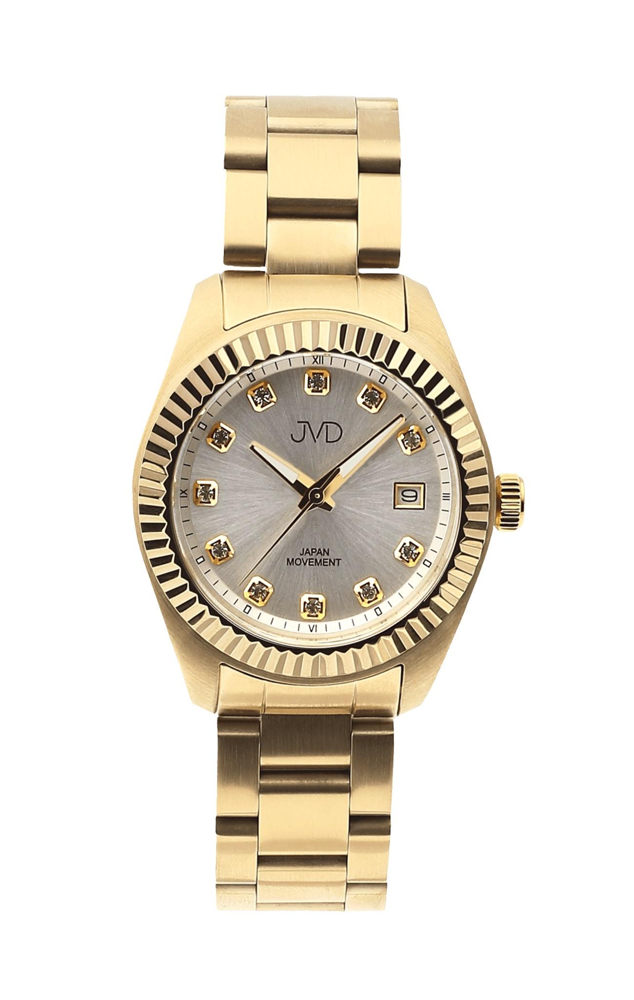 Dámské zlacené ocelové moderní náramkové hodinky JVD JC579.2 ... 5600e26c00