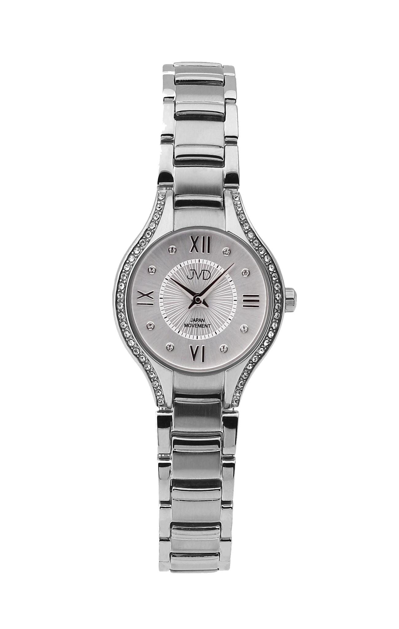 Dámské ocelové moderní hodinky JVD JC118.1 se zirkony  d38228f5d8