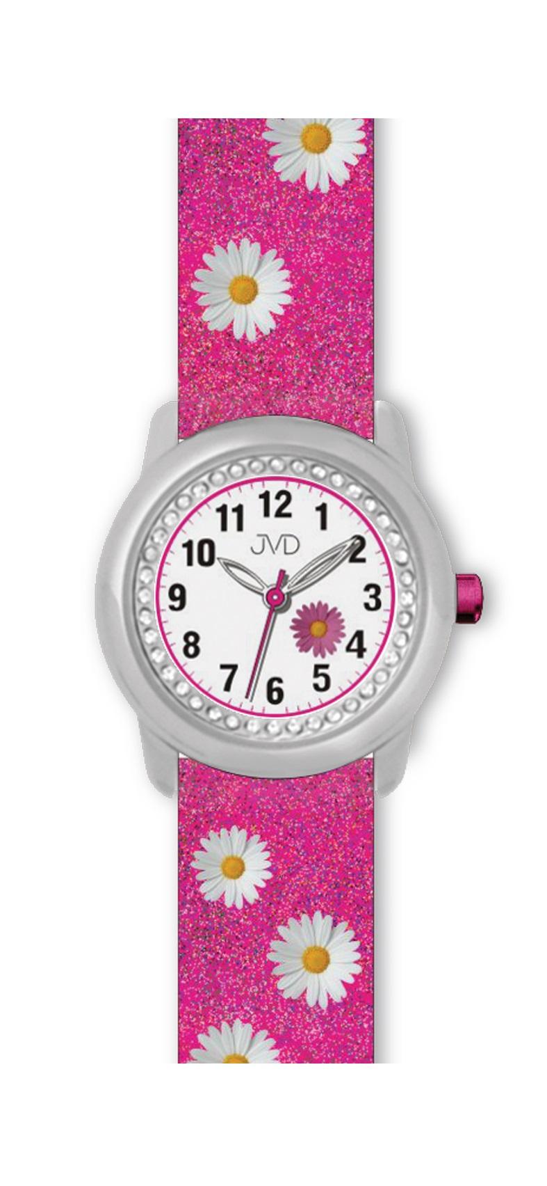 Dětské růžové náramkové hodinky JVD basic J7118.1  e9c30dfd86d