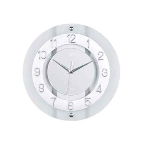 Luxusní skleněné netikající hodiny JVD NS2534.1 (netikající hodiny)