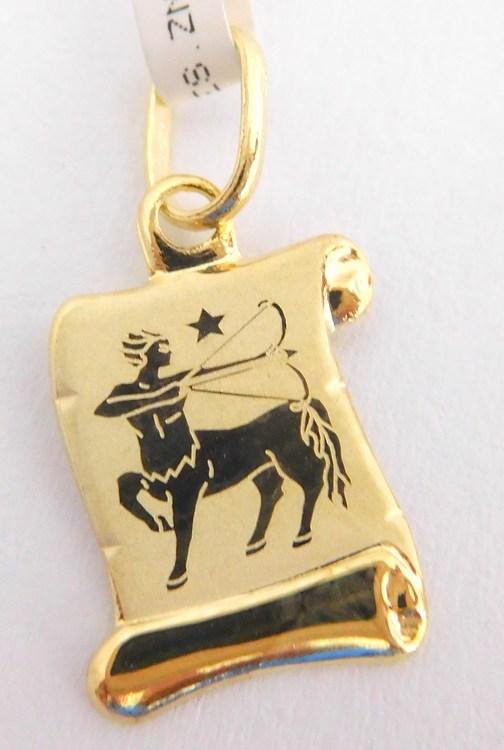 Zlatý přívěsek - zlaté znamení KOZOROH na pergamenu 585/0,42gr 1322006