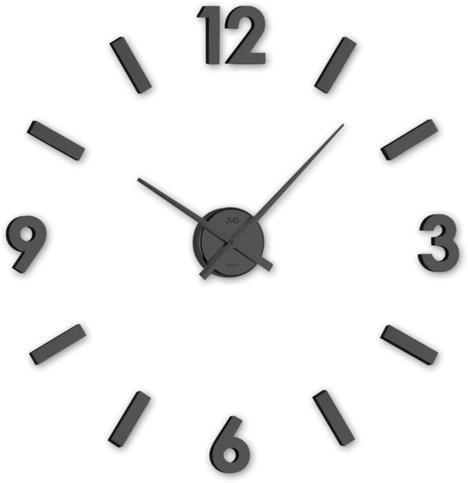 Černé designové nástěnné nalepovací hodiny JVD HC20.3 (černé levné nalepovací hodiny)