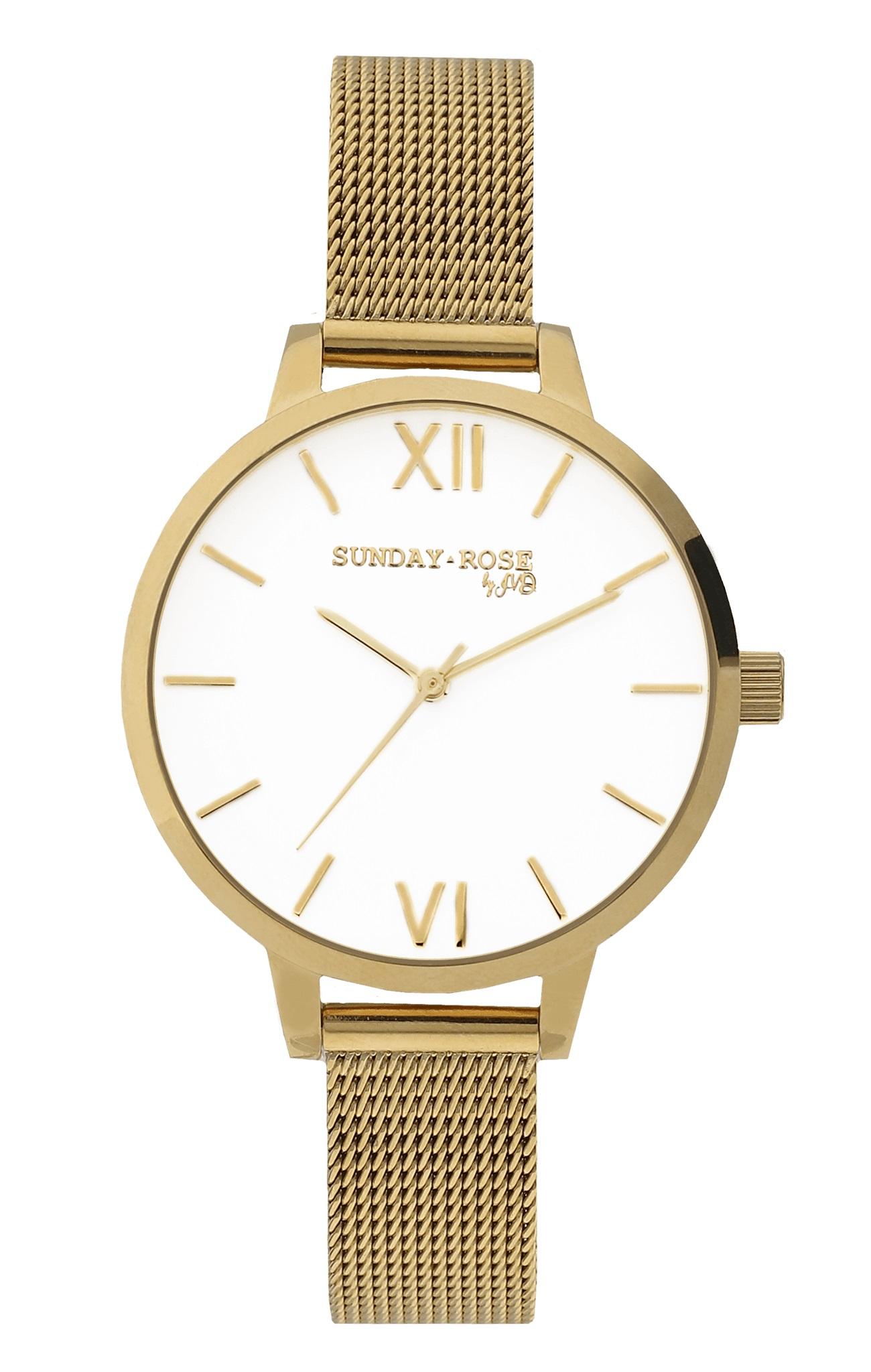Dámské luxusní designové hodinky SUNDAY ROSE Fashion ROYAL GOLD (POŠTOVNÉ ZDARMA!!)