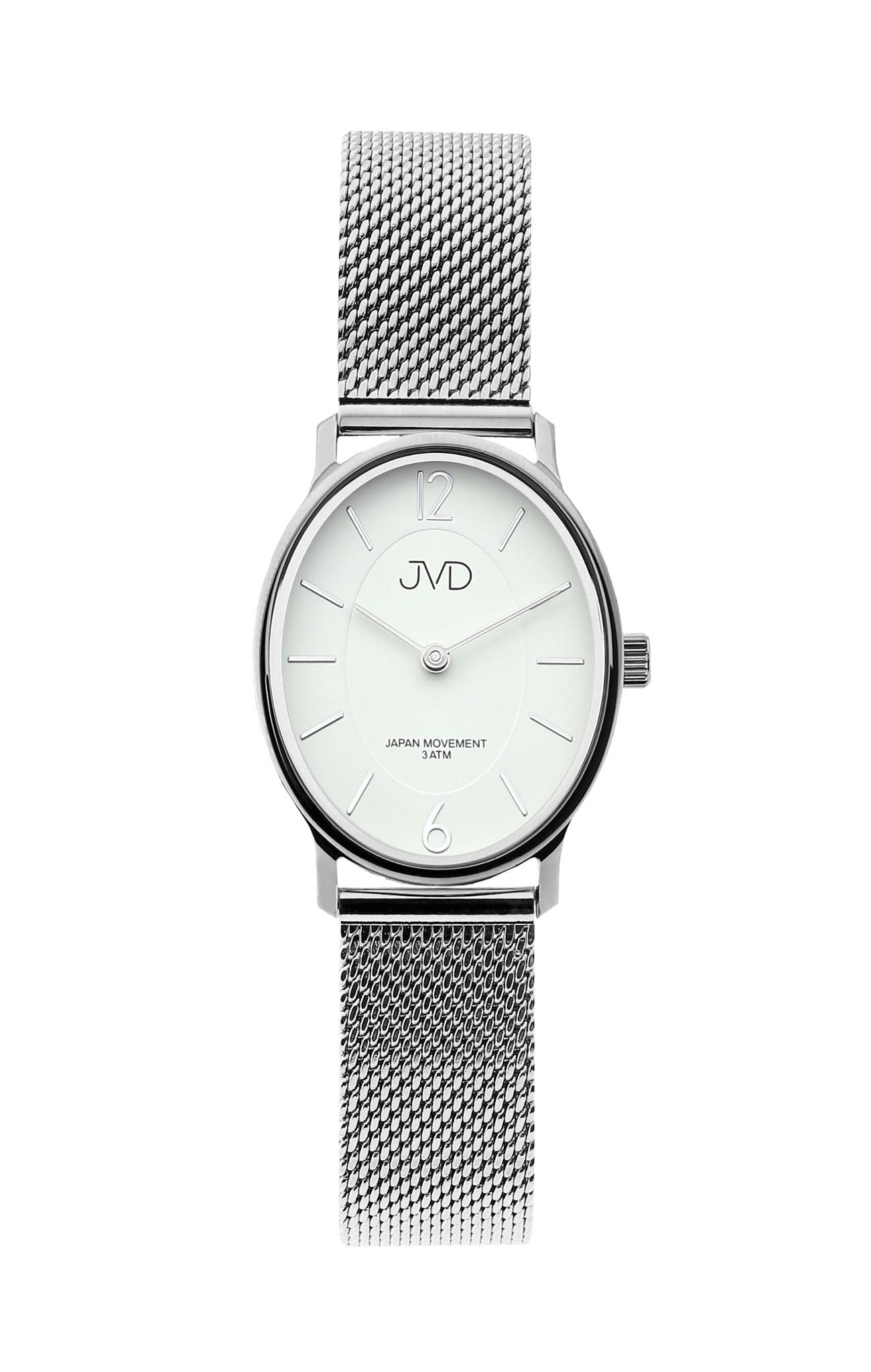 dc14f3f14 Dámské stříbrné oválné hodinky JVD J4163.1 | Zlatnictví-hodiny ...