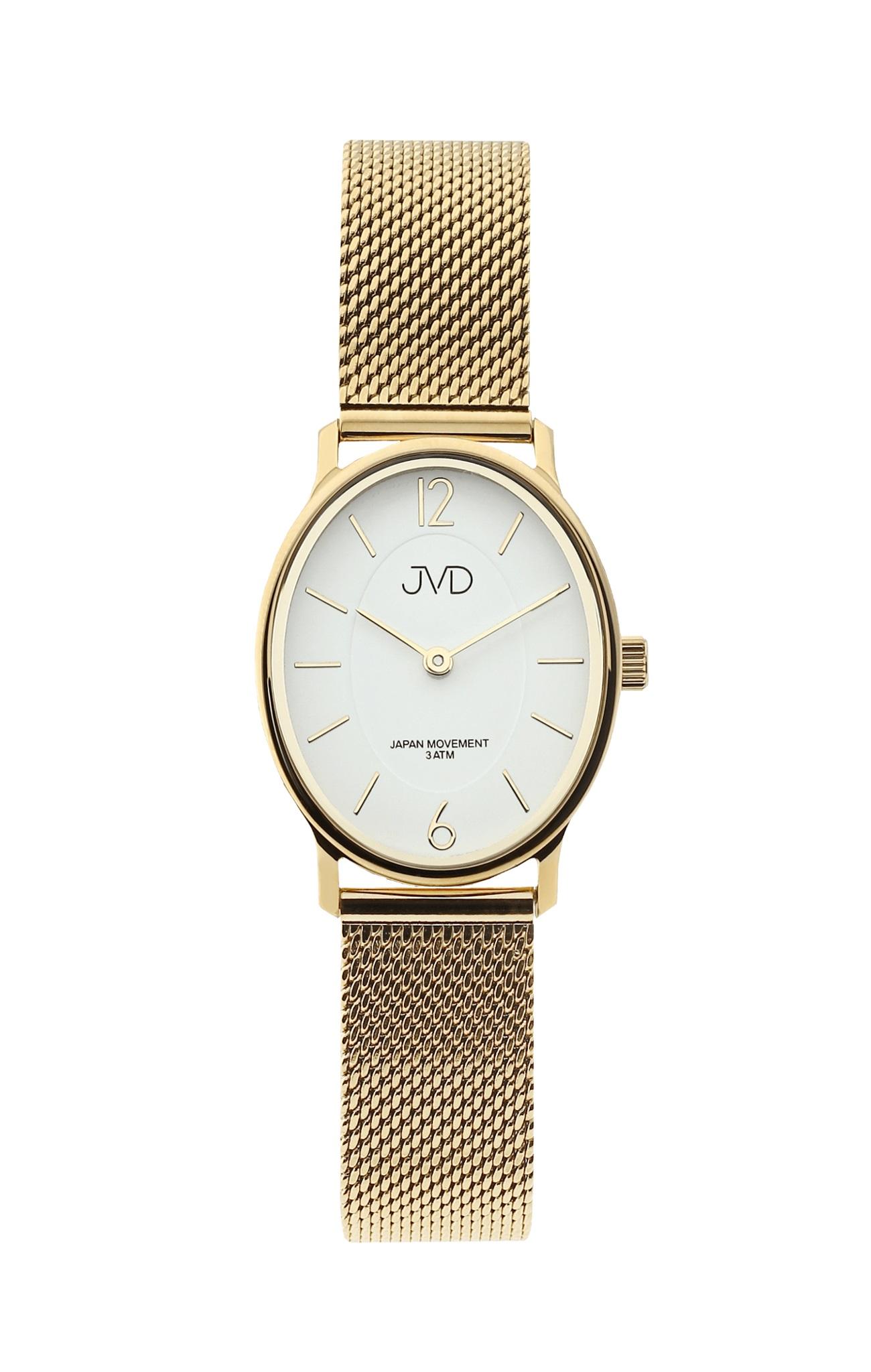 4a8e5e66d Dámské zlacené oválné hodinky JVD J4163.2 | Zlatnictví-hodiny ...