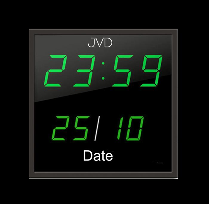 Velké svítící digitalní nástěnné hodiny JVD DH41.1 se zelenými číslicemi (POŠTOVNÉ ZDARMA!!)