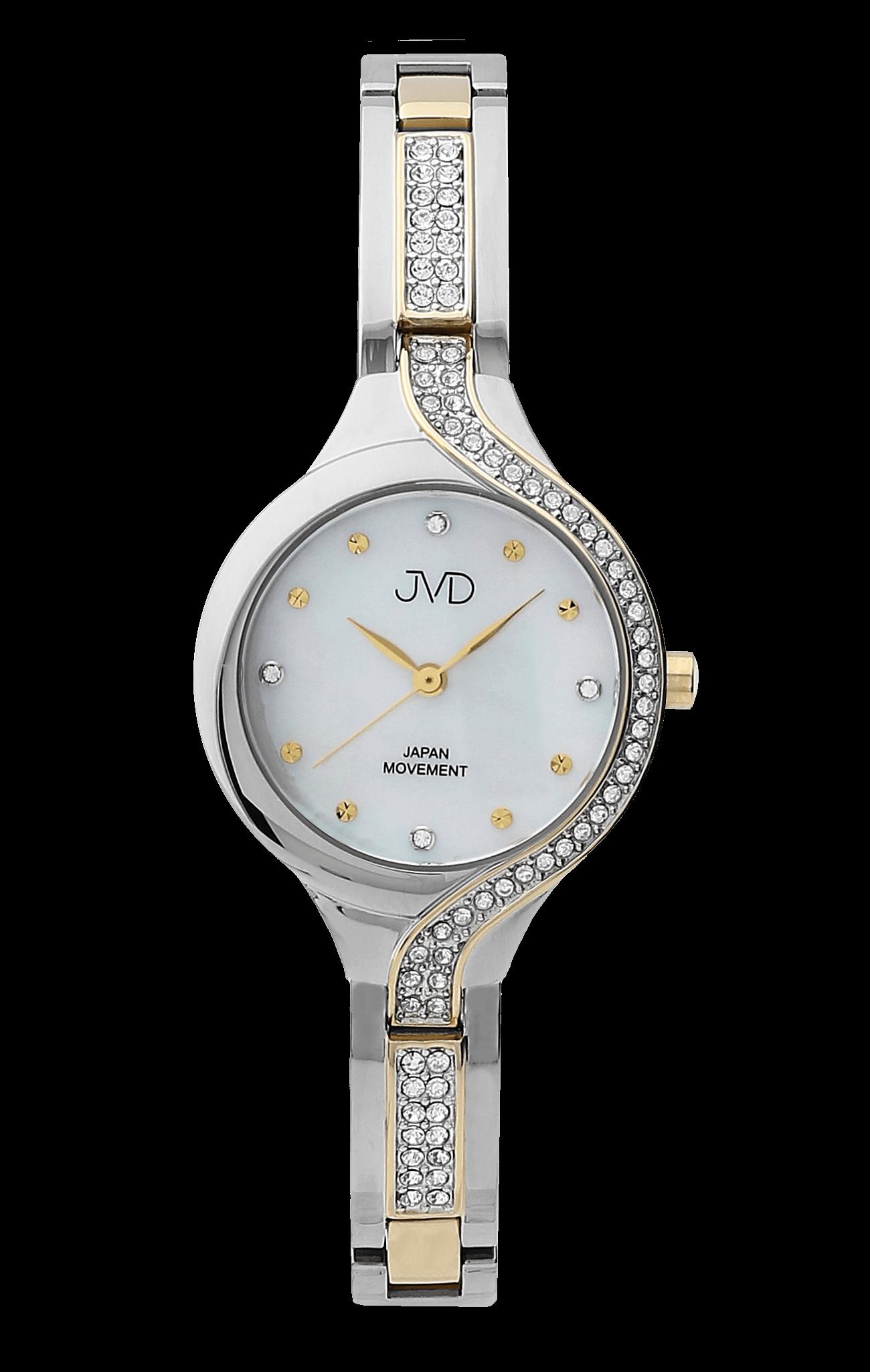 Dámské luxusní designové ocelové hodinky JVD JC052.5 se zirkony ... db5dd7da09