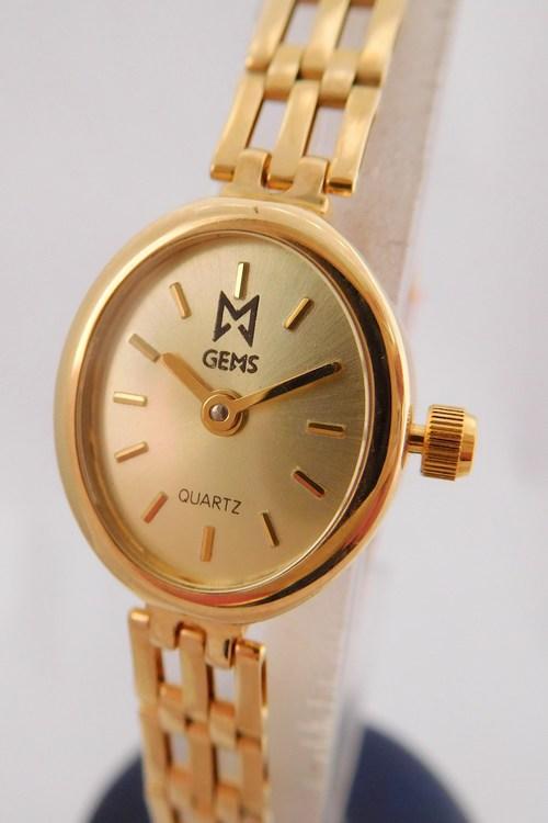Luxusní společenské dámské zlaté hodinky GEMS 585/14,10gr 1440219