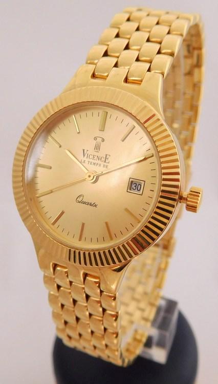 Švýcarské celozlaté dámské zlaté hodinky VICENCE LE TEMS DE 585/40,0gr 1440214