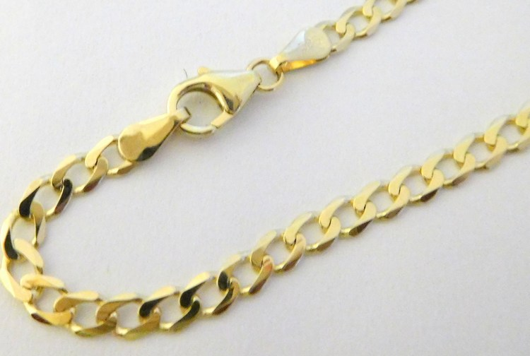 Pánský masivní mohutný luxusní zlatý náramek PANCER 22cm 585/2,80gr 3040093