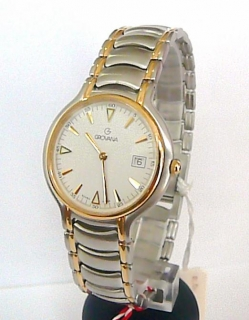 Luxusní ocelové švýcarské značkové hodinky Grovana 1513.1 - bicolor c850e71cca