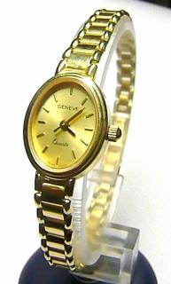 Luxusní společenské dámské švýcarské zlaté hodinky GENEVE 585 19 b5a56405bd