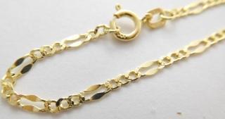 207455017 Mohutný zlatý náramek ze žlutého zlata KÁVOVÉ ZRNO 585/1,35gr 19cm 2840029