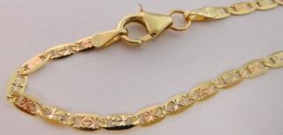 4abe8ebb7 Zlatý mohutný pevný náramek ze tří barev zlata 585/1,50gr 20cm 3040485