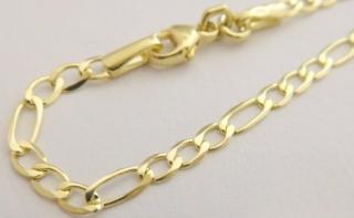 3fd7fb1f1 Zlatý pánský pevný mohutný náramek ze žlutého zlata (FIGARO) 21cm 585/1,