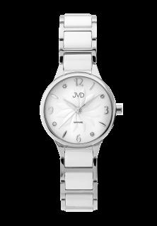 Dámské náramkové keramické hodinky JVD JG1001.1 se safírovým sklem 38eeffb01a0