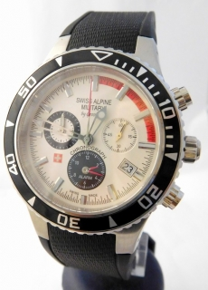 Pánské švýcarské hodinky - chronograf Swiss Alpine Military by Grovana  1607.8832 b0f820bebd