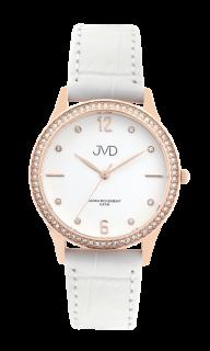 79ae97bb2e3 Dámské čitelné elegantní náramkové hodinky JVD J4175.1 se zirkony na lunetě