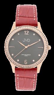 c8b050b5a78 Dámské čitelné elegantní náramkové hodinky JVD J4175.2 se zirkony na lunetě
