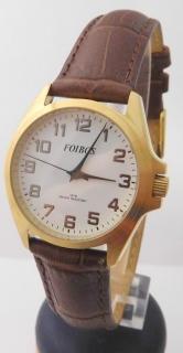 c371de184 Dámské čitelné přehledné ocelové hodinky na koženém pásku Foibos 7139.2