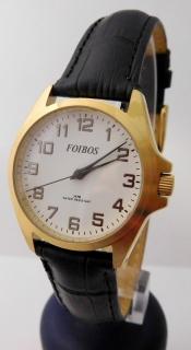 Dámské čitelné přehledné ocelové hodinky na koženém pásku Foibos 7139.1 5c46dda6597