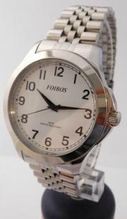 Čitelné ocelové pánské přehledné voděodolné hodinky Foibos 6983.1 - 5ATM 4a5de6bc36