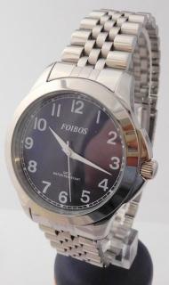 Čitelné ocelové pánské přehledné voděodolné hodinky Foibos 6983.3 - 5ATM 5fabfa1e56