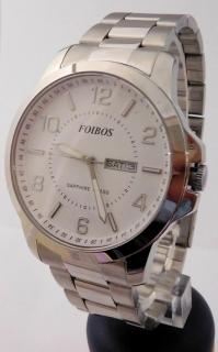 Mohutné přehledné pánské vodotěsné hodinky Foibos 7090.1 - 10ATM se  safírovým sklíčkem 89fadf24576