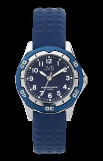 Modré odolné dětské chlapecké vodotěsné hodinky JVD J7185.3 - 10ATM dc61216755